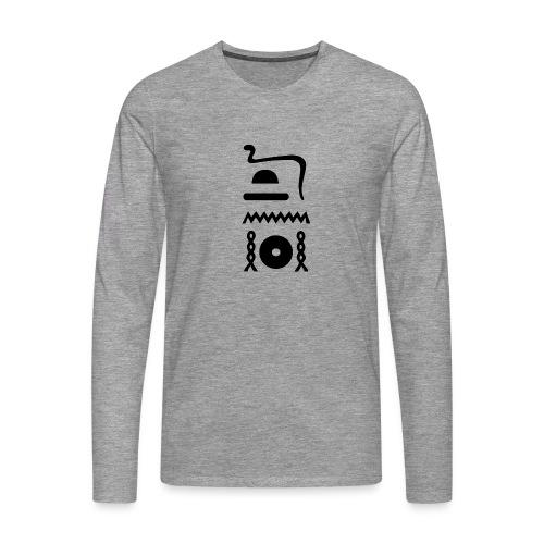 Hieroglyphen: djet-neheh (ewiglich, in Ewigkeit) - Männer Premium Langarmshirt