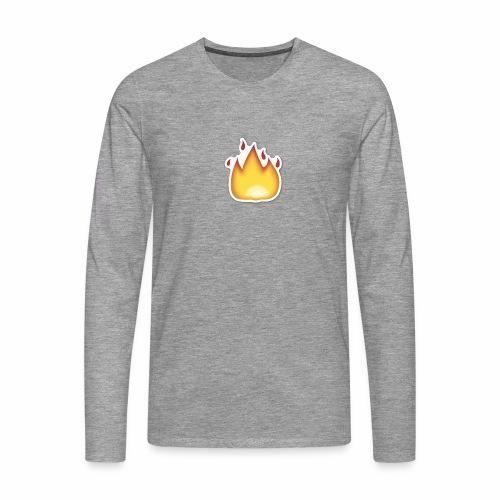 Liekkikuviollinen vaate - Miesten premium pitkähihainen t-paita