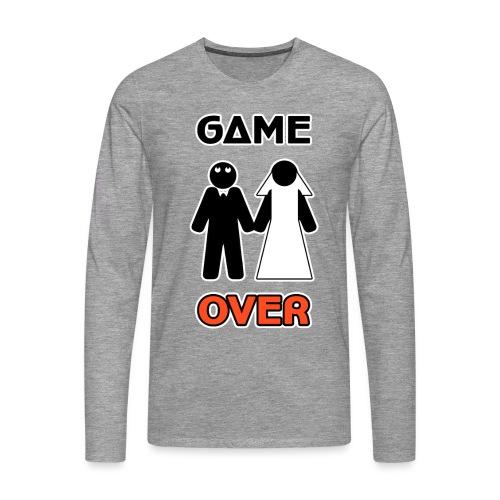 Addio al Celibato - Game Over - Maglietta Premium a manica lunga da uomo