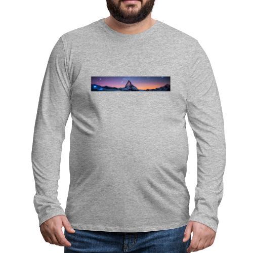 Mountain sky - Männer Premium Langarmshirt