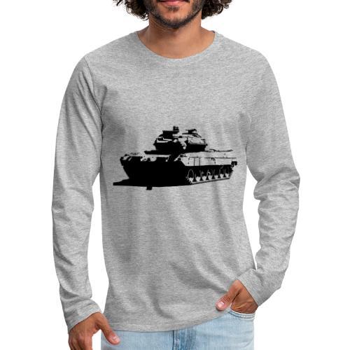 Leopard 2 Kampfpanzer - Stridsvagn 122 - Långärmad premium-T-shirt herr