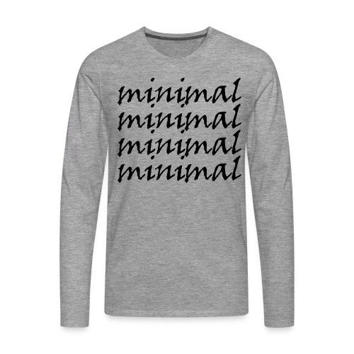 Minimal Design - Männer Premium Langarmshirt
