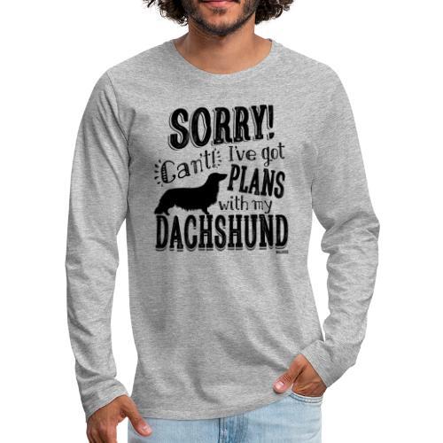 Plans Doxie LH B - Miesten premium pitkähihainen t-paita
