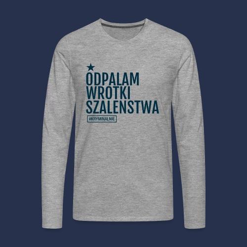 WROTKI SZALENSTWA - napis ciemny - Koszulka męska Premium z długim rękawem