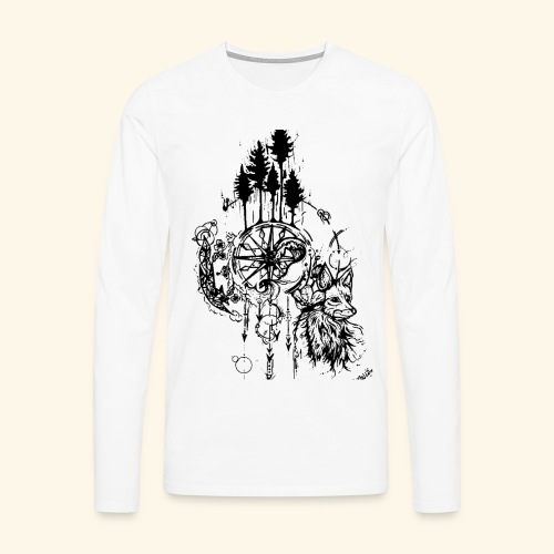 renard nature - T-shirt manches longues Premium Homme