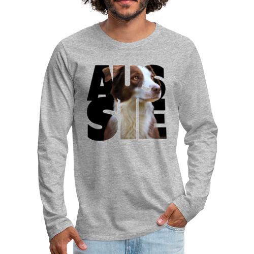 Aussie II - Miesten premium pitkähihainen t-paita