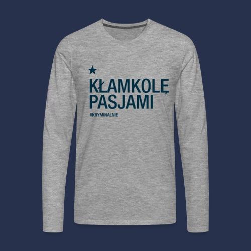 kłamkolę - napis ciemny - Koszulka męska Premium z długim rękawem