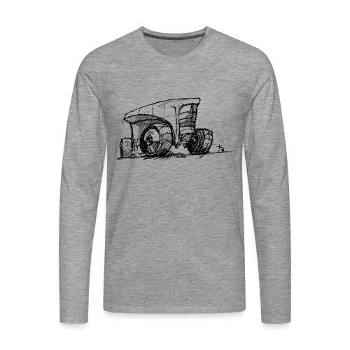 Futuristic design tractor - Men's Premium Longsleeve Shirt