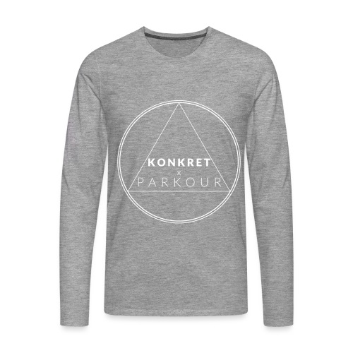 logga konkret textkontur - Långärmad premium-T-shirt herr