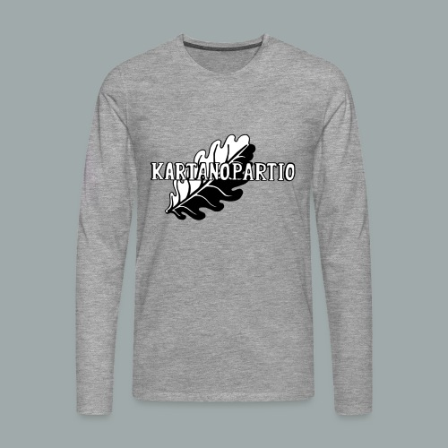 karpa logo photoshopattu - Miesten premium pitkähihainen t-paita