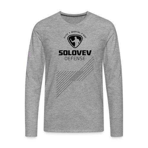 SD EMA back black - Männer Premium Langarmshirt
