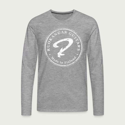 R Distressed White - Men's Premium Longsleeve Shirt