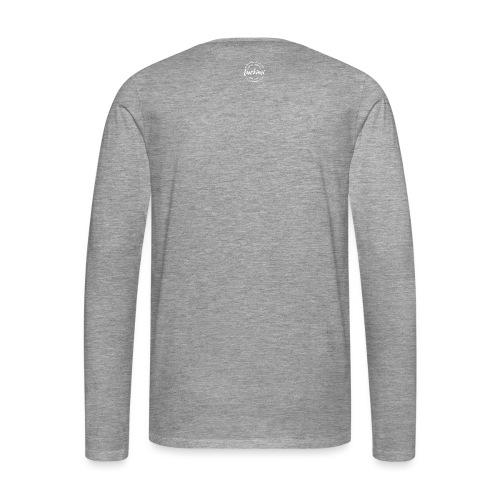 Luckimi logo white small circle on sleeve or back - Men's Premium Longsleeve Shirt