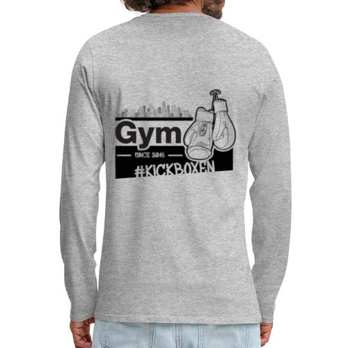 Gym in Druckfarbe schwarz - Männer Premium Langarmshirt