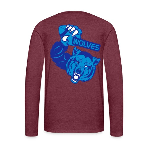 Wolves Rugby - T-shirt manches longues Premium Homme