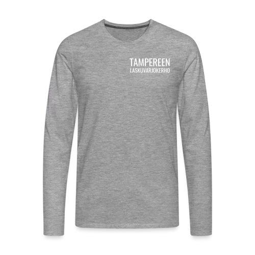 Teksti TAMLK logo CMYK Wh - Miesten premium pitkähihainen t-paita