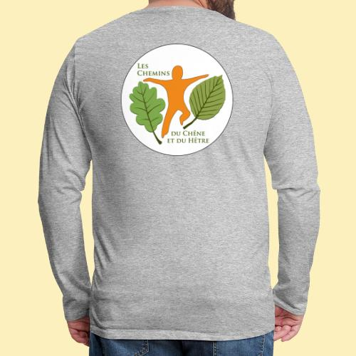 Logo des Chemins du Chêne et du Hêtre - T-shirt manches longues Premium Homme