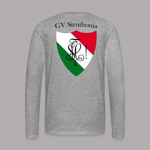 Wappen Struthonia beschriftet - Männer Premium Langarmshirt