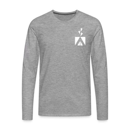 humina_logo_70mm - Miesten premium pitkähihainen t-paita