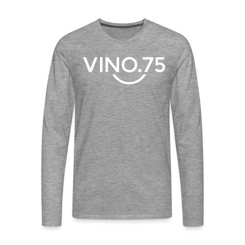 VINO75 - Maglietta Premium a manica lunga da uomo