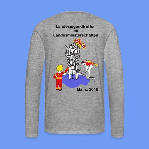 LM Logo vierfarbig mit Schrift schwarz - Männer Premium Langarmshirt