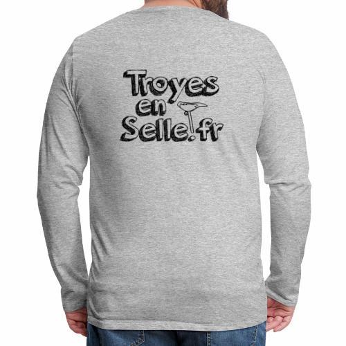 logo Troyes en Selle noir - T-shirt manches longues Premium Homme