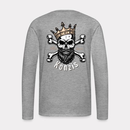 Skull Bones Logo - Männer Premium Langarmshirt
