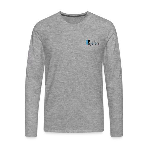 ITsjefen logo - Premium langermet T-skjorte for menn