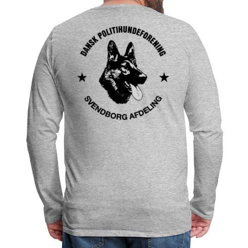 Svendborg ph sort - Herre premium T-shirt med lange ærmer