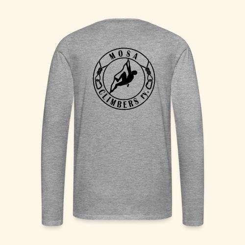 Mosa climbers black - Miesten premium pitkähihainen t-paita