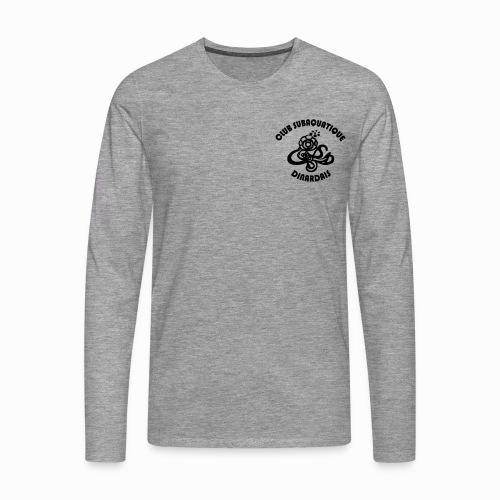 Logo CSD petit avec texte - T-shirt manches longues Premium Homme