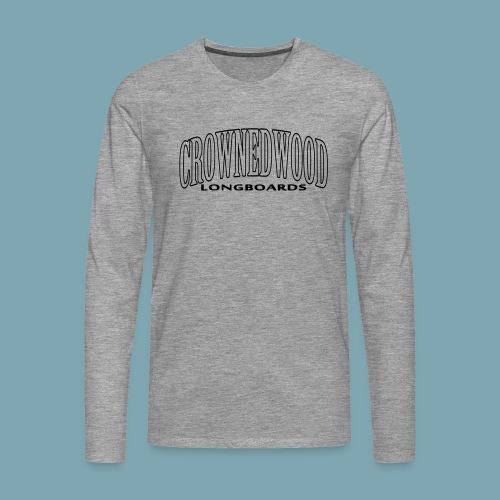 CROWNEDWOOD_Longboards - Männer Premium Langarmshirt