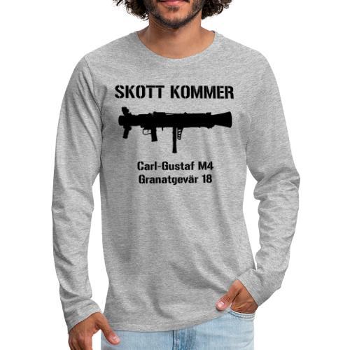 SKOTT KOMMER - KLART BAKÅT - SWE Flag - Långärmad premium-T-shirt herr