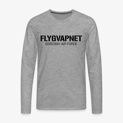 FLYGVAPNET - SWEDISH AIR FORCE - Långärmad premium-T-shirt herr