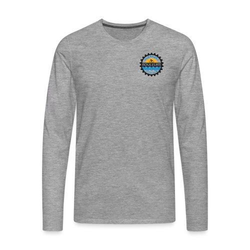 Guernsey Rouleurs Small Logo - Men's Premium Longsleeve Shirt