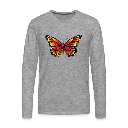 Sommerfugl - Herre premium T-shirt med lange ærmer