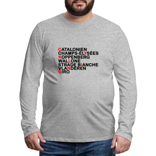 CYKLING - Herre premium T-shirt med lange ærmer