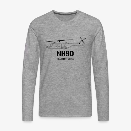 Helikopter 14 - NH 90 - Långärmad premium-T-shirt herr
