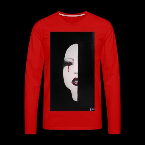 BlackWhitewoman - Maglietta Premium a manica lunga da uomo