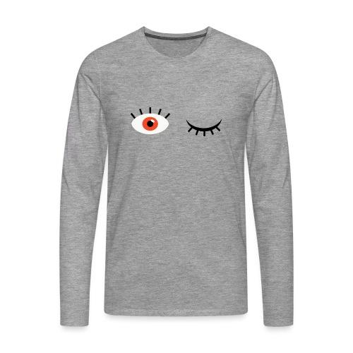 Eye see you - Herre premium T-shirt med lange ærmer