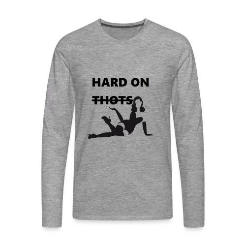 Hard on thots (censored) - Mannen Premium shirt met lange mouwen