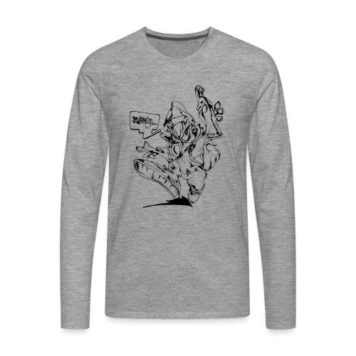 Writers Revenge - Herre premium T-shirt med lange ærmer