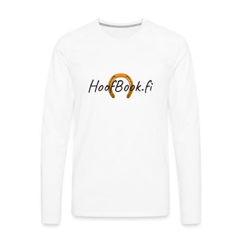 hb-logo - Miesten premium pitkähihainen t-paita