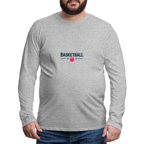Basketball - Maglietta Premium a manica lunga da uomo