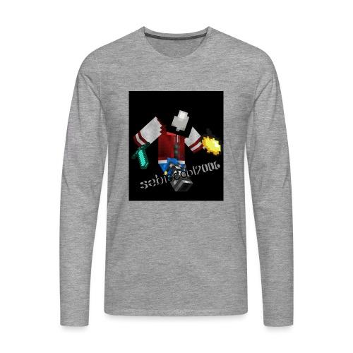 Sebastian yt - Herre premium T-shirt med lange ærmer