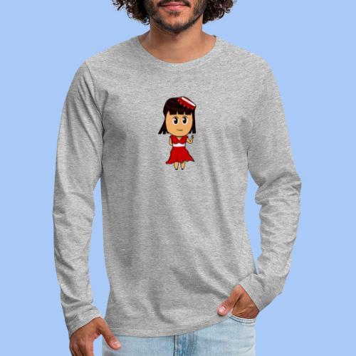 Coca chan - Camiseta de manga larga premium hombre