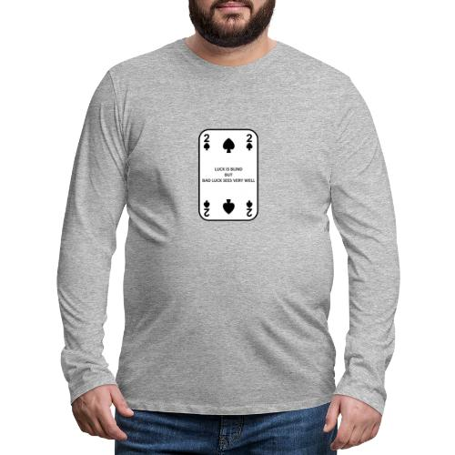 2 di picche - Maglietta Premium a manica lunga da uomo