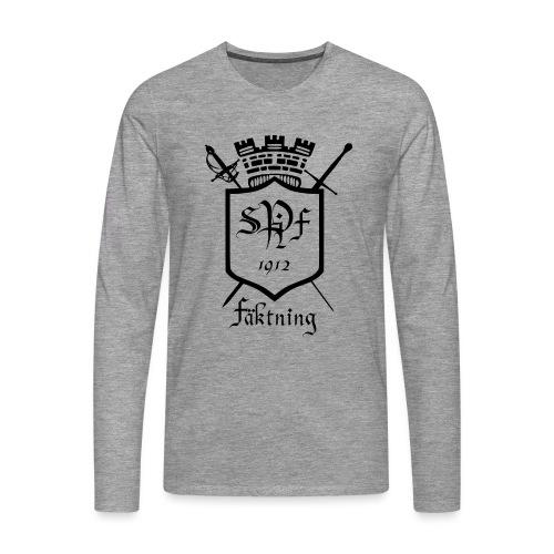 spiff logo black - Långärmad premium-T-shirt herr