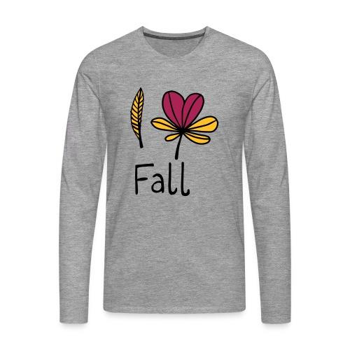 Fall in love - Männer Premium Langarmshirt