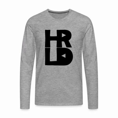 HRLD Black Logo - Miesten premium pitkähihainen t-paita